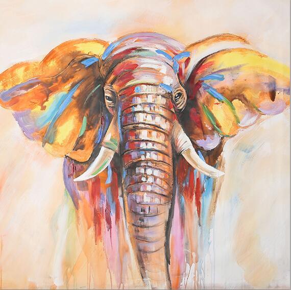 Toile Éléphant Coloré