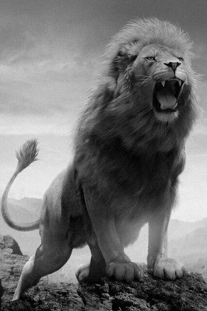 Toile Lion Rugissant