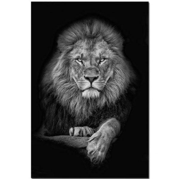 Toile Lion Serein
