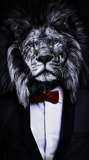 Toile Lion Personnifié