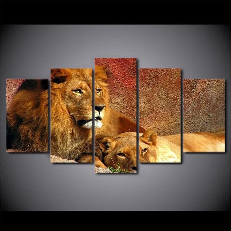 Tableau Lion Protecteur