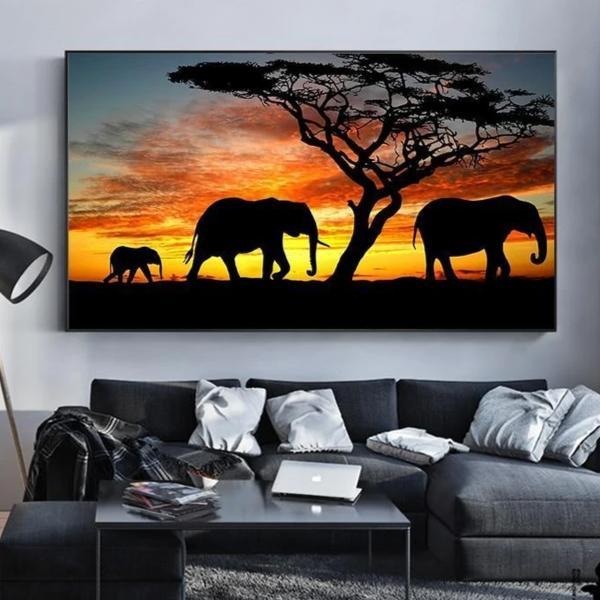 Toile Éléphant d'Afrique