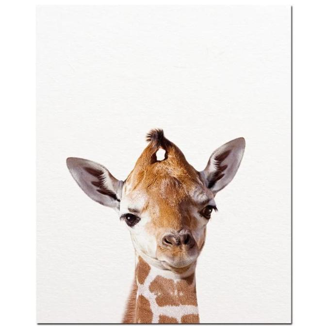 Toile Girafe Enfantine