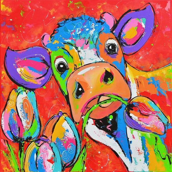 Poster Vache Couleur