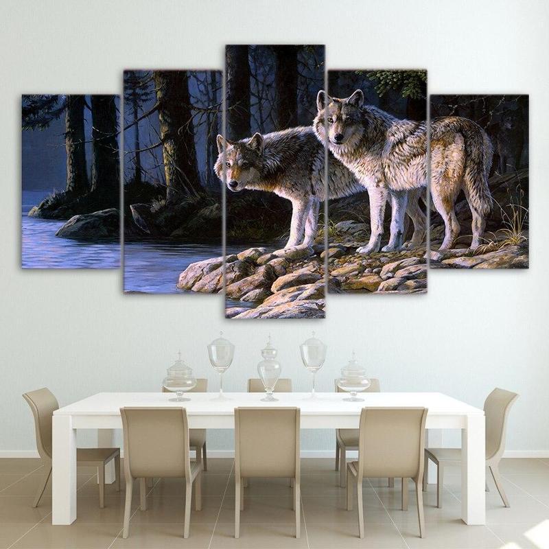 Tableau Multi Panneaux Loup