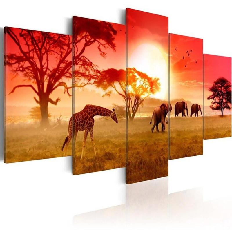 products tableau africain animaux