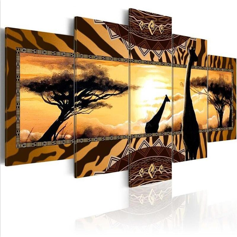 Tableau Girafes Africaines