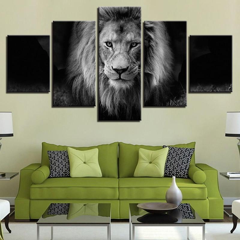 Tableau Lion Majestueux