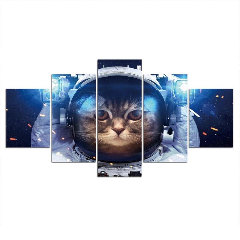 Tableau Chat Astronaute