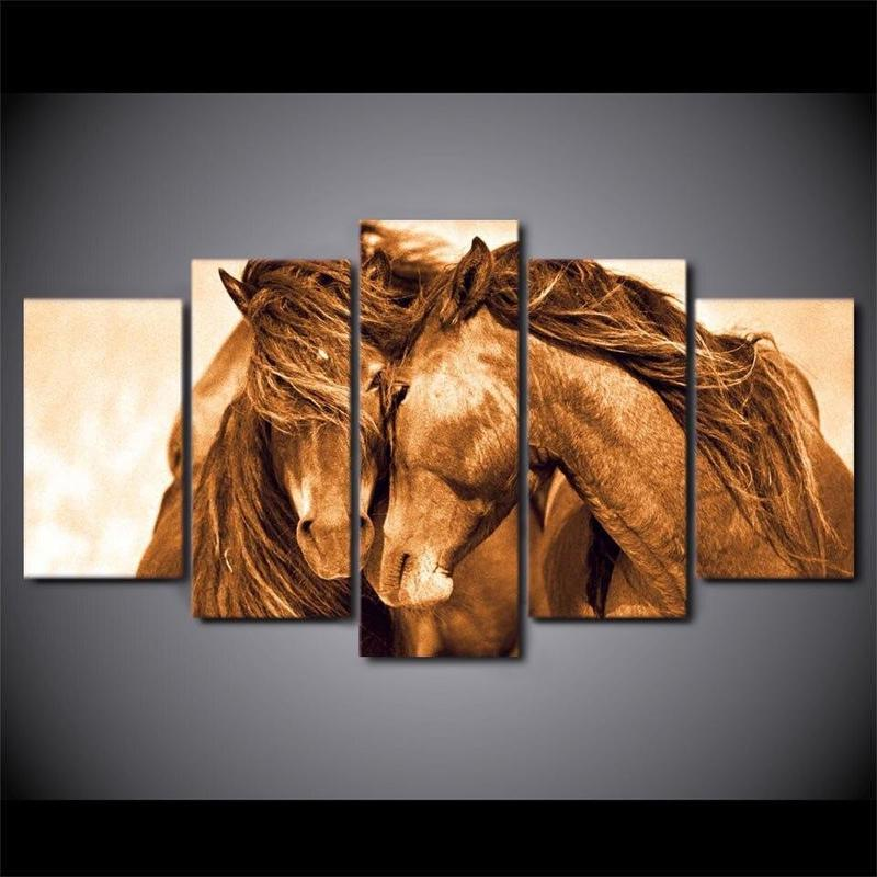 Tableau Chevaux Sauvages