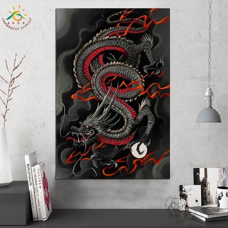 Tableau Dragon Japonais