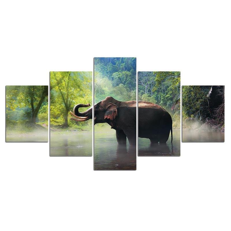 Tableau Éléphant Resplendissant