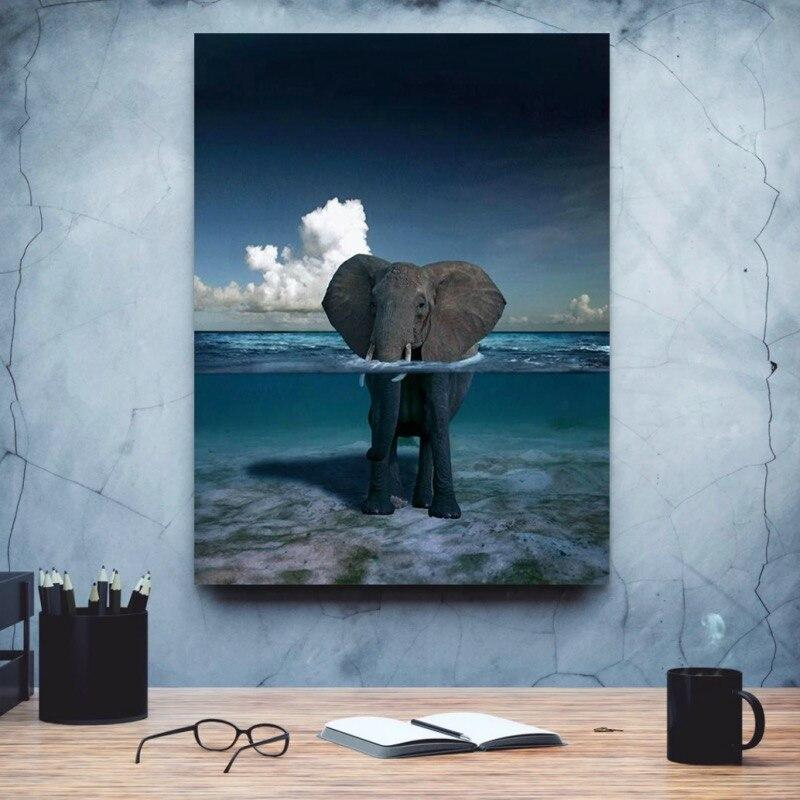 Tableau Éléphant Abstrait