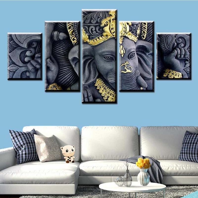 Tableau Ganesh 5 Pieces