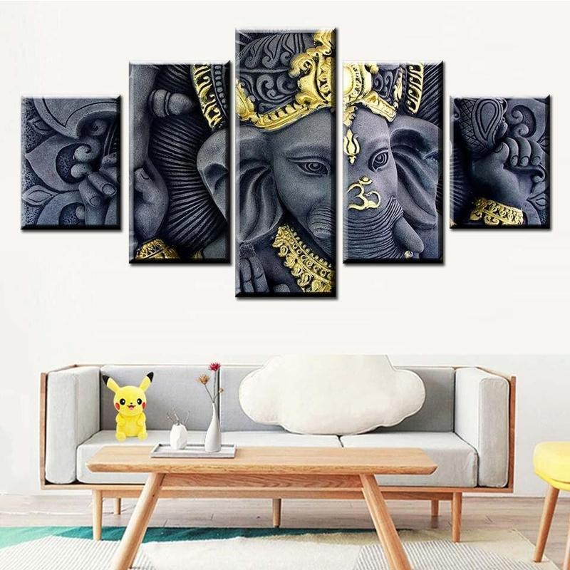 Tableau Éléphant Indien