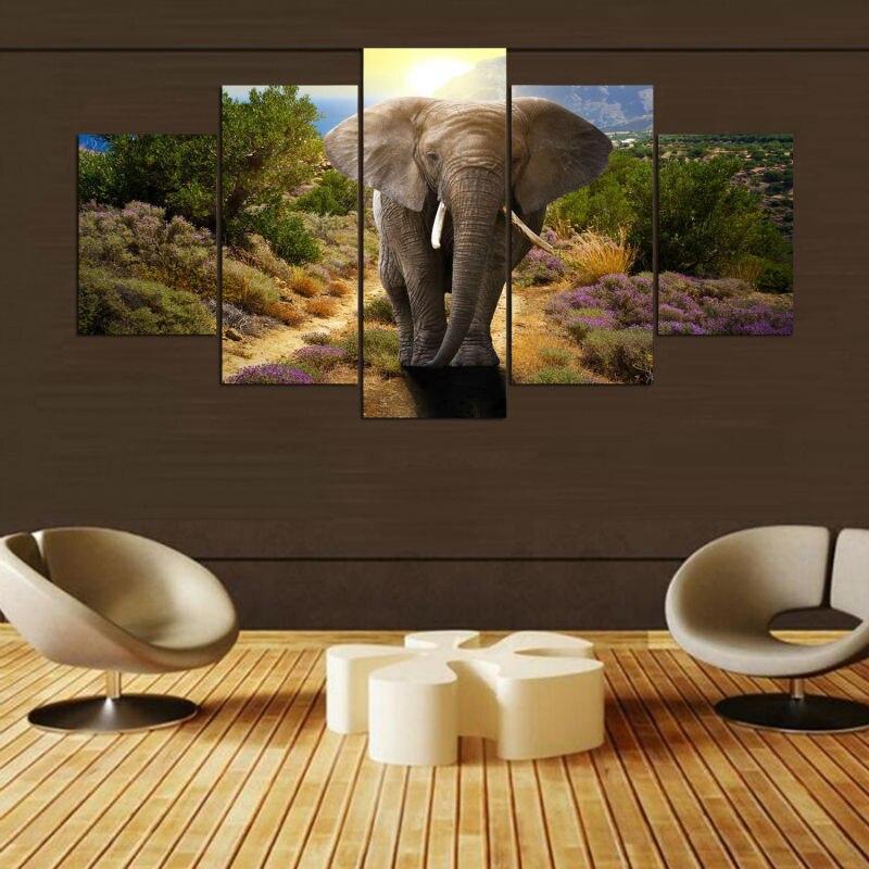 Tableau Éléphant 3D