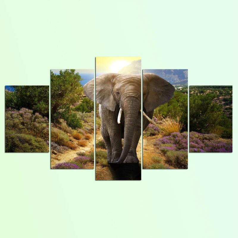 Tableau Éléphant Grand Format