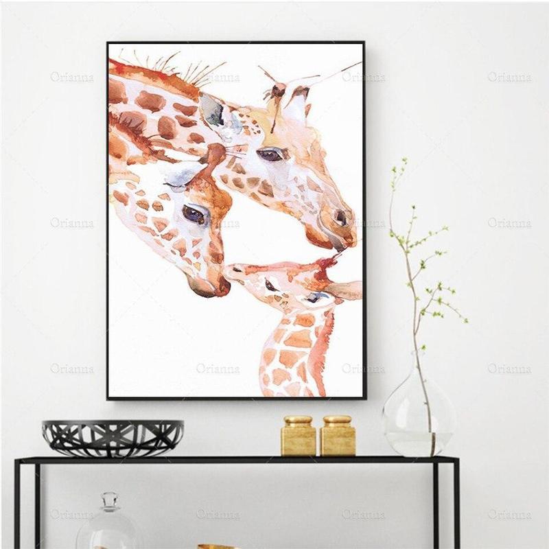 Tableau Girafes & Girafon