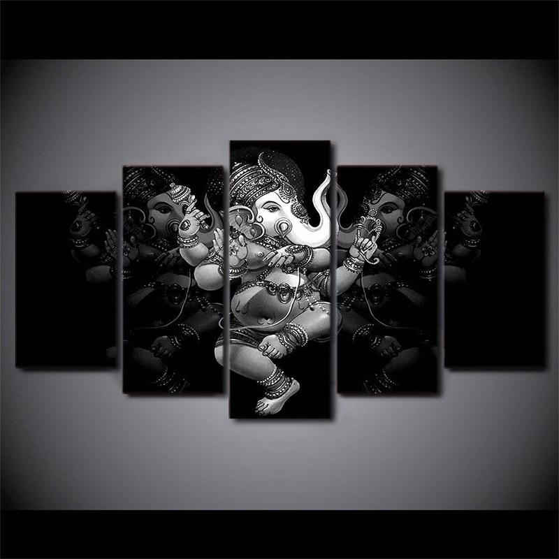 Tableau Ganesh Noir & Blanc