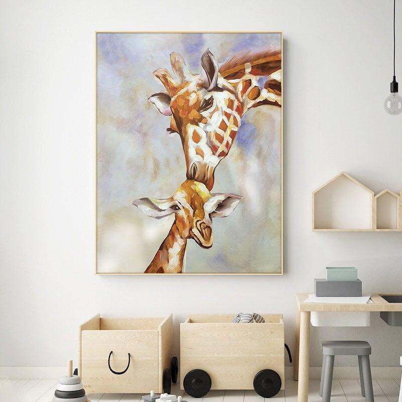 Tableau Enfant Girafe