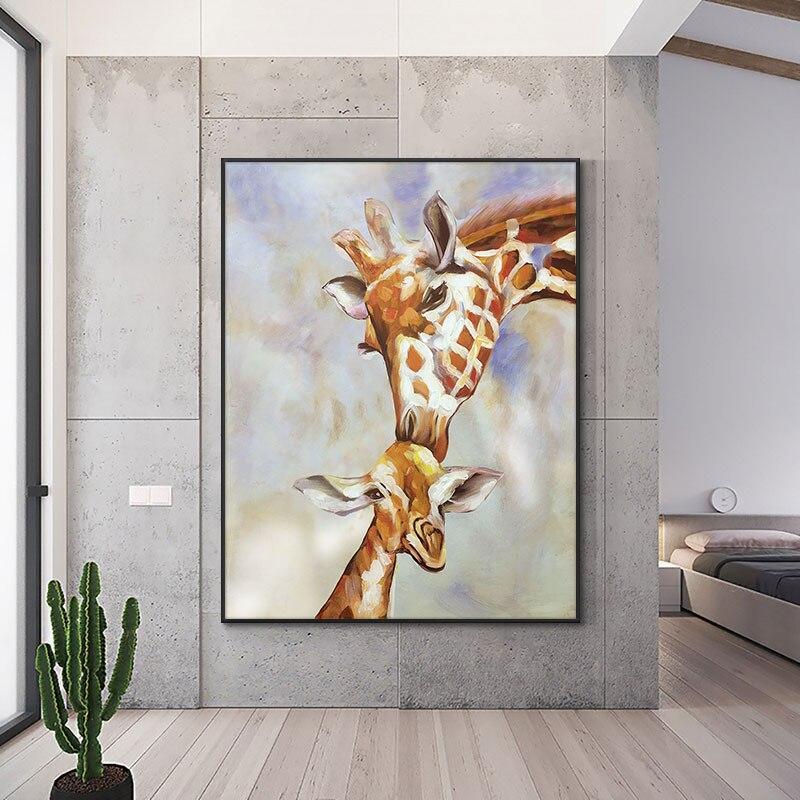 Tableau Girafe Bébé