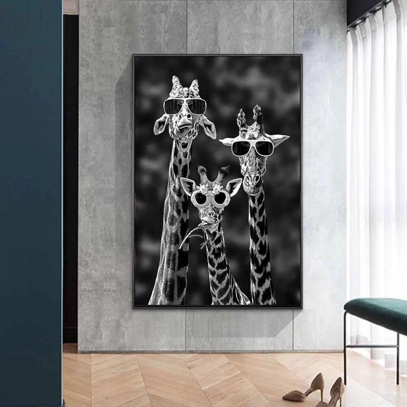 Tableau Girafes à Lunettes