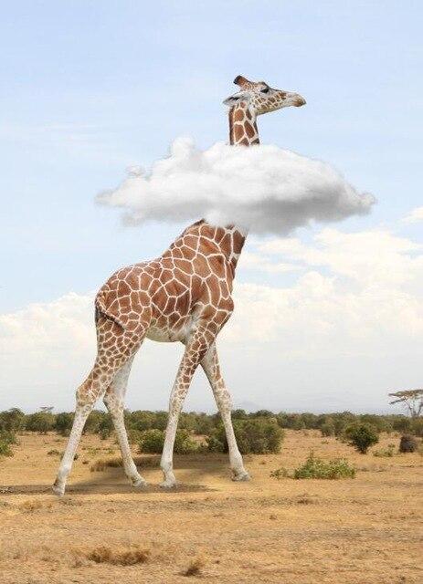 Tableau Girafe Rigolote