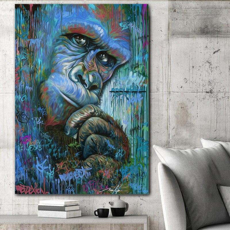 Tableau Gorille Artistique