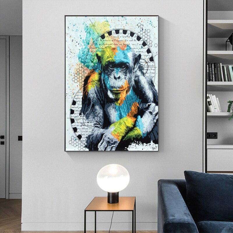 Tableau Gorille Coloré