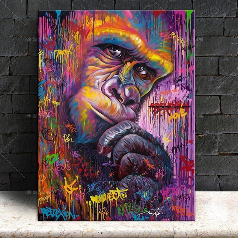 Tableau Gorille Street Art