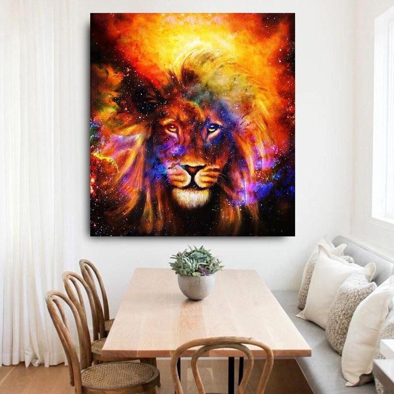 Tableau Lion du Cosmos