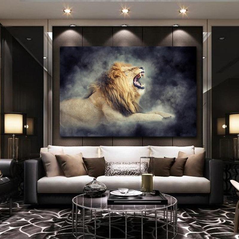 Tableau Lion qui Rugit