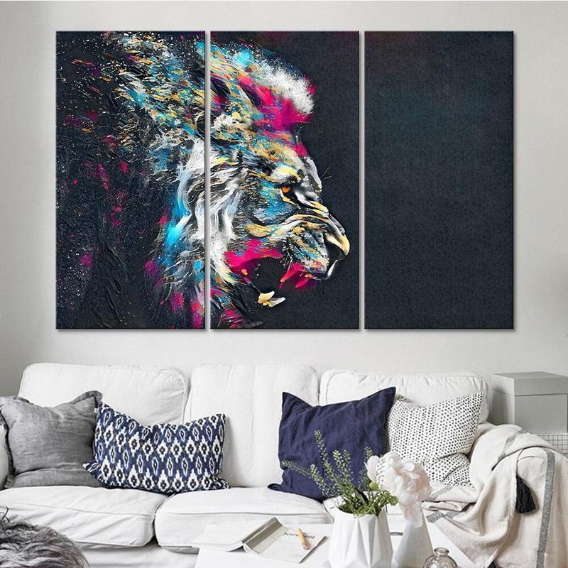 Tableau Lion Rugissant