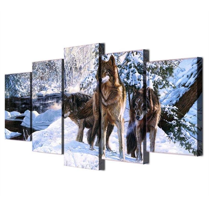 Tableau Loups des Neiges