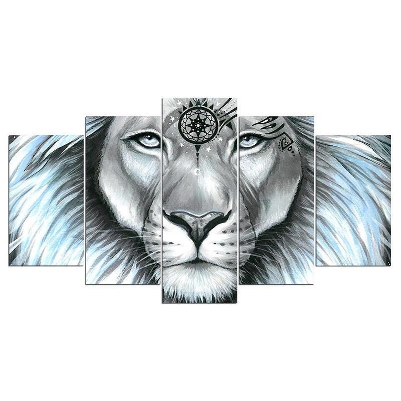 Tableau Multi Panneaux Lion