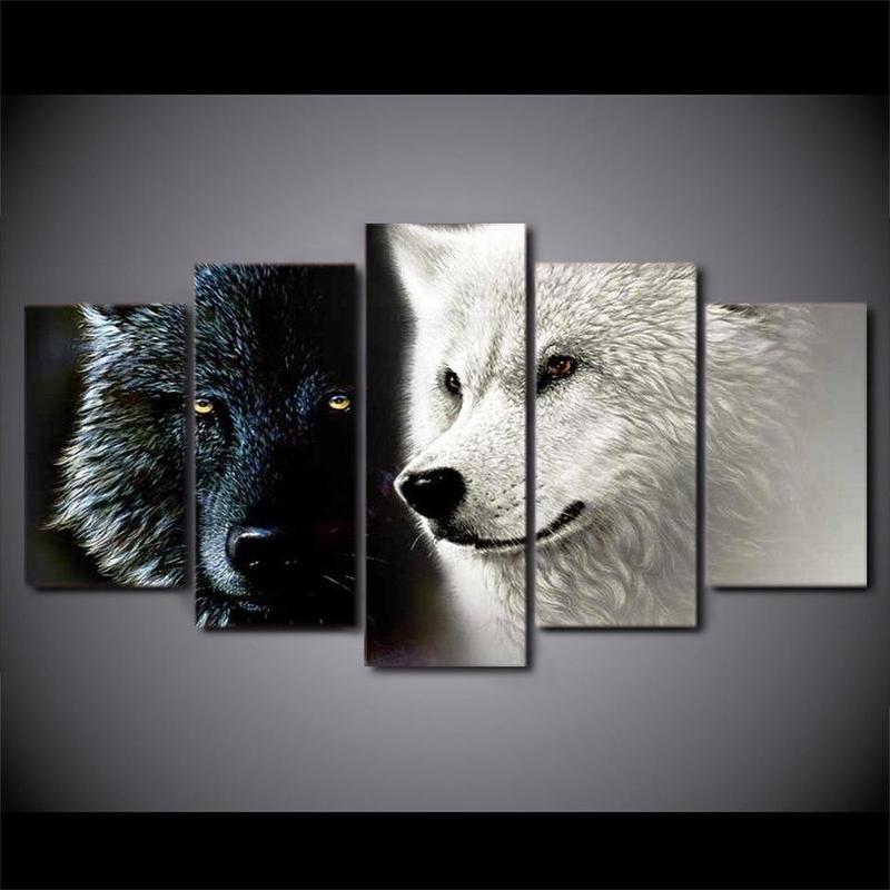Tableau Loups Majestueux