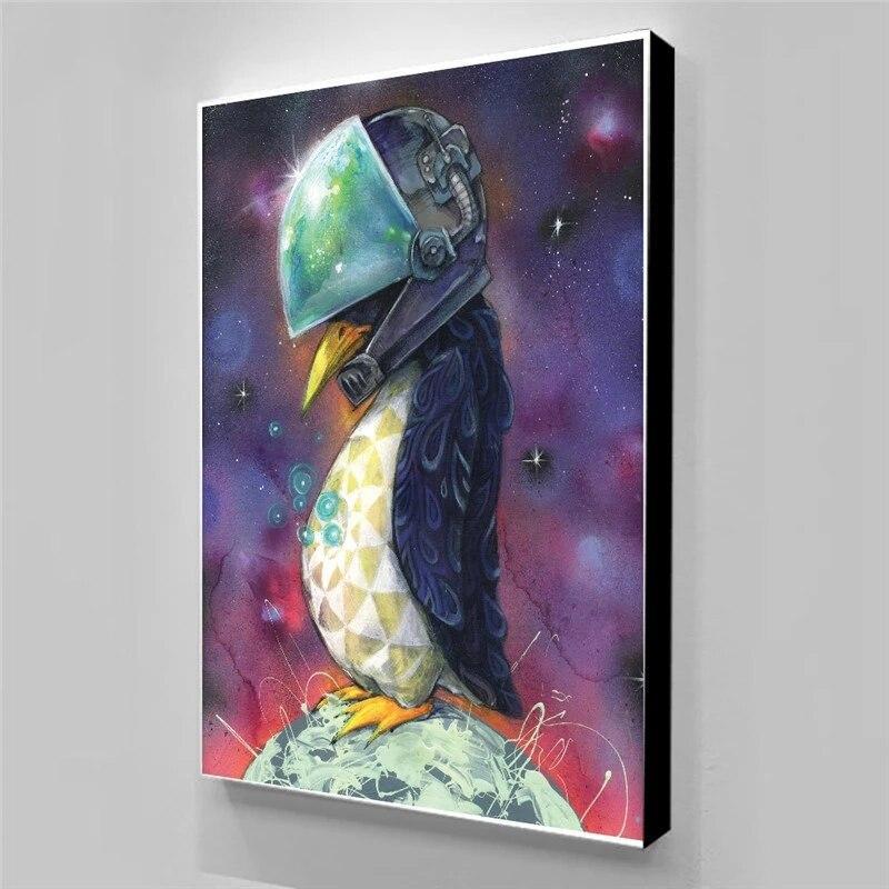 Tableau Oiseau Abstrait