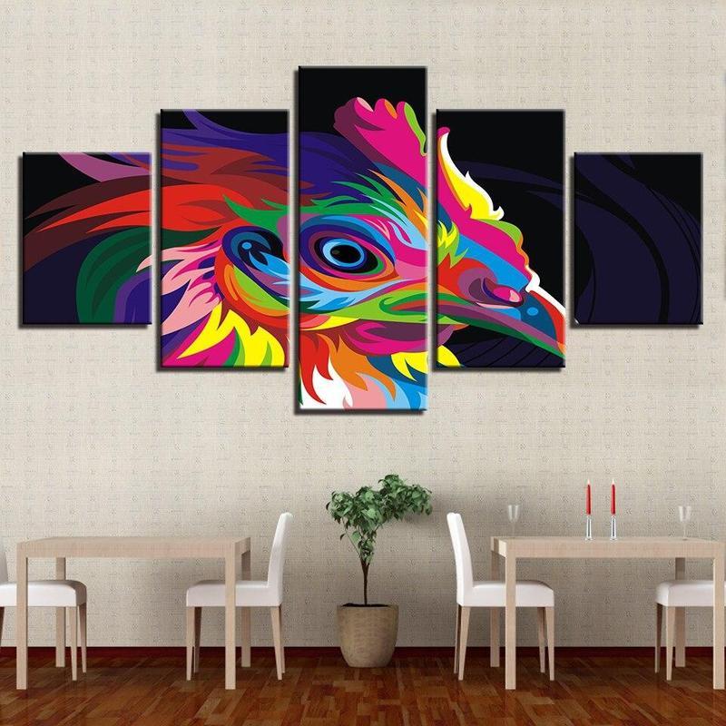 Tableau Oiseau Multicolore