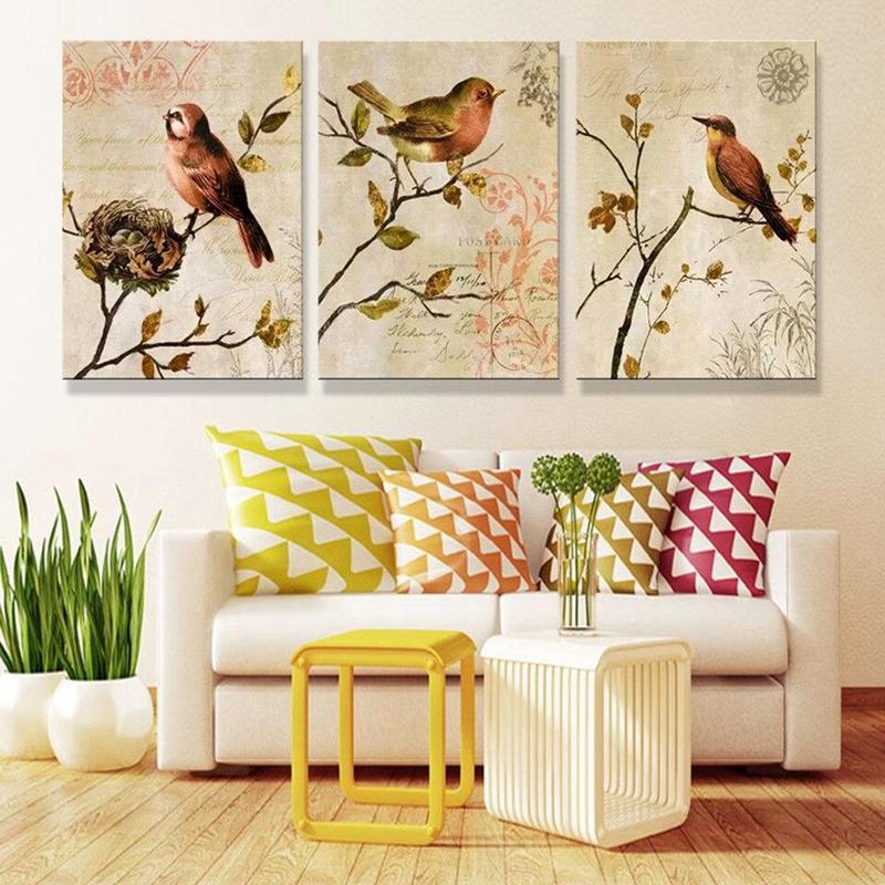 Tableau Oiseaux sur Branches