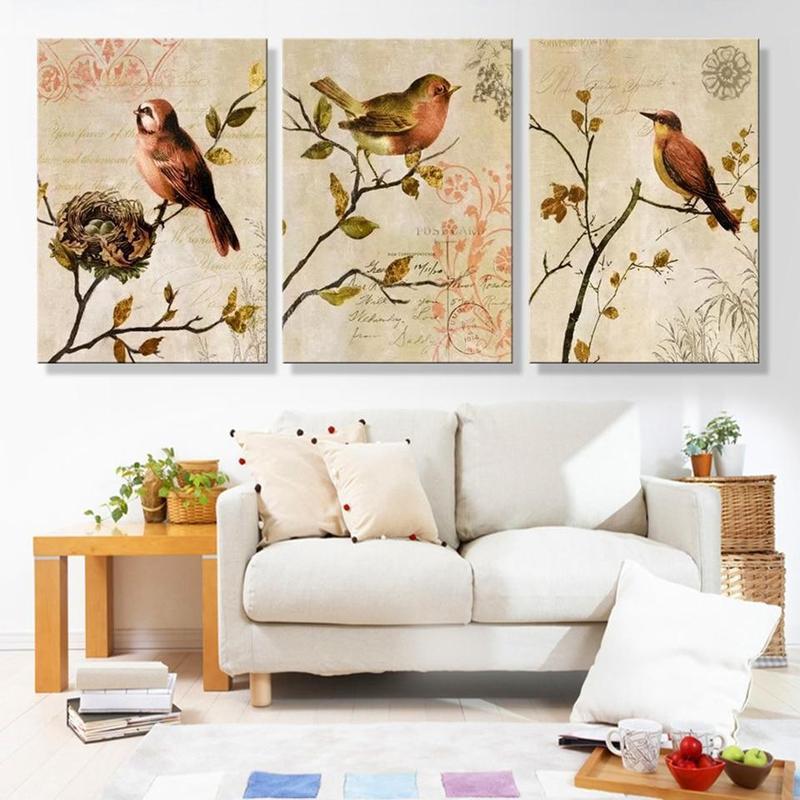 products tableau oiseau sur branche