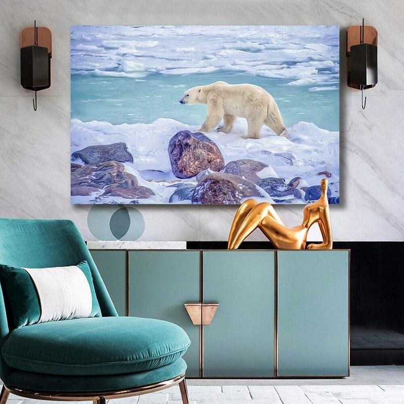 Tableau Ours Blanc