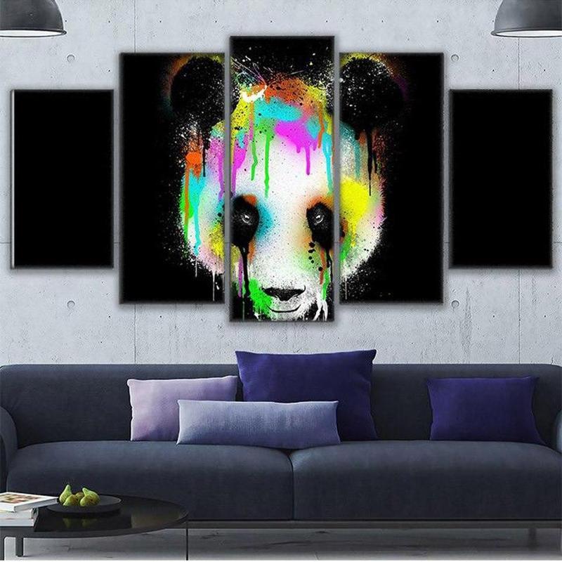 Tableau Panda Coloré