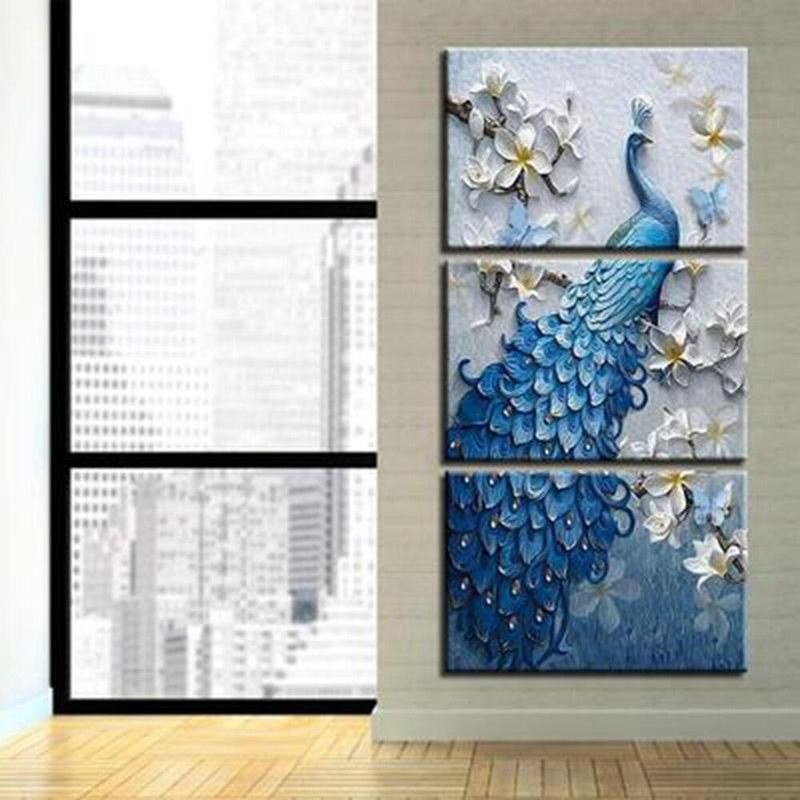 Tableau Paon Bleu