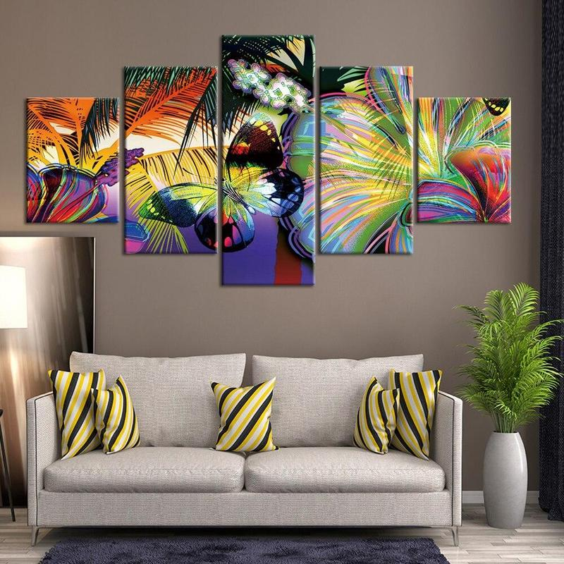 Tableau Papillon Abstrait