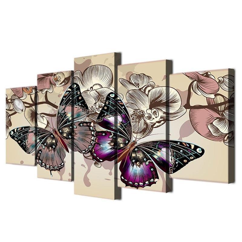 Tableau Papillon en Relief
