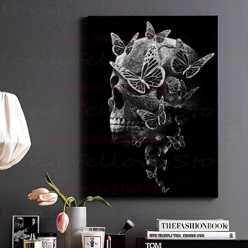 Tableau Papillon Noir & Blanc