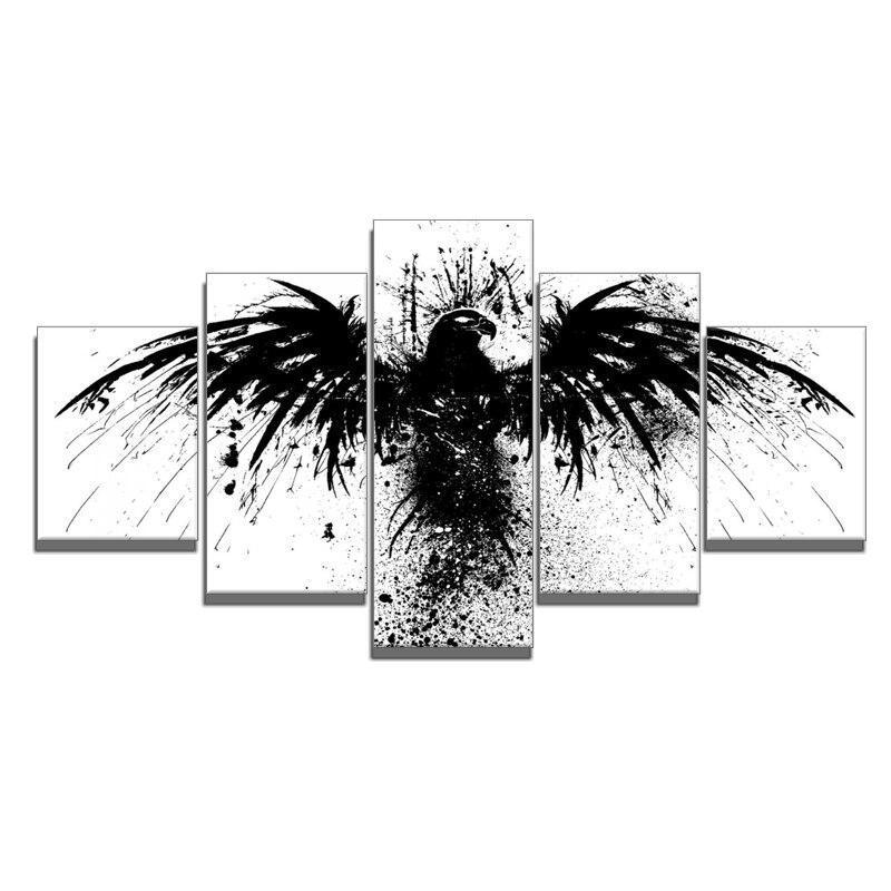 Tableau Aigle Noir et Blanc
