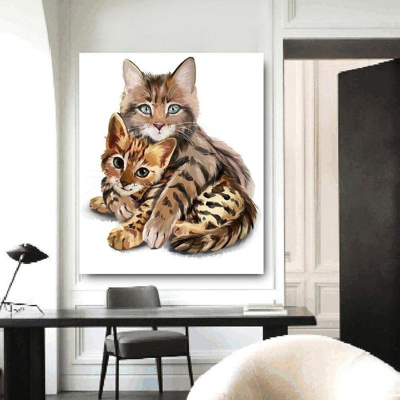 Tableau Peinture Acrylique Chat