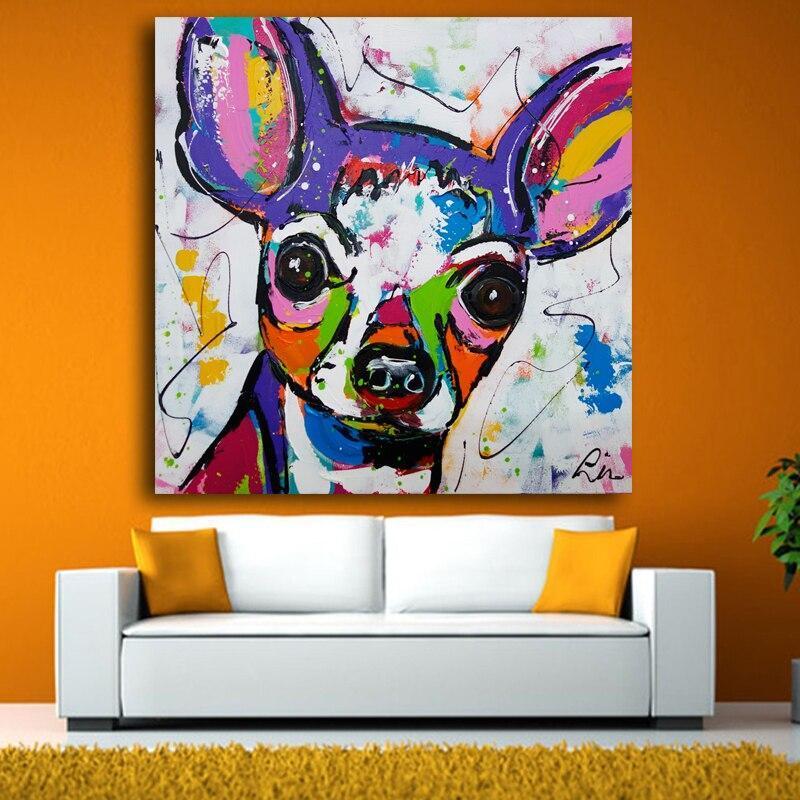 Tableau Chihuahua Multicolore