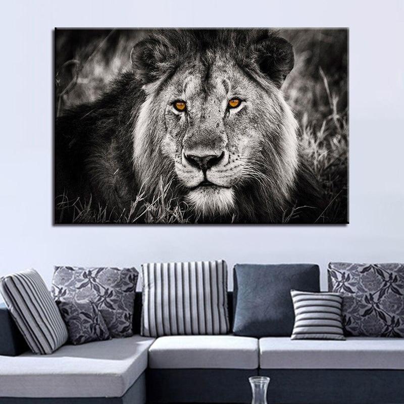 Tableau Tête de Lion